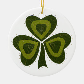 Saint Patrick's Day collage series # 10 Christmas Ornament