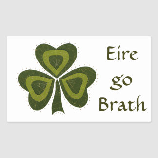 Saint Patrick's Day collage series # 10 Rectangular Sticker