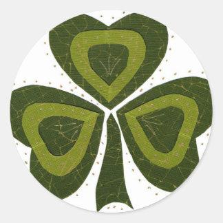 Saint Patrick's Day collage series # 10 Round Sticker