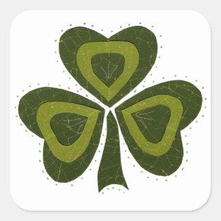 Saint Patrick's Day collage series # 10 Square Sticker