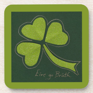 Saint Patrick's Day collage series # 11 Drink Coaster