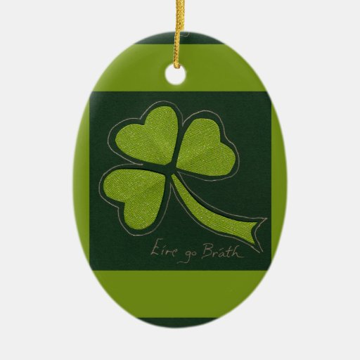 Saint Patrick's Day collage series # 11 Christmas Ornament