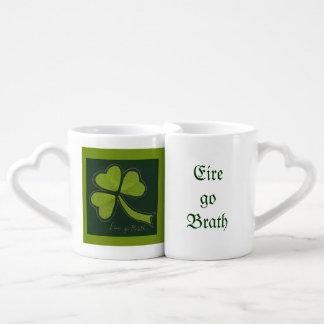 Saint Patrick's Day collage series # 11 Lovers Mug Set