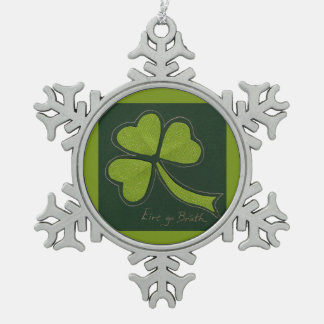 Saint Patrick's Day collage series # 11 Pewter Snowflake Decoration