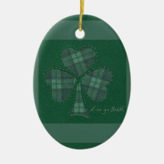 Saint Patrick's Day collage series # 12 Ceramic Oval Decoration