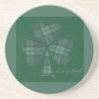 Saint Patrick's Day collage series # 12 Drink Coaster
