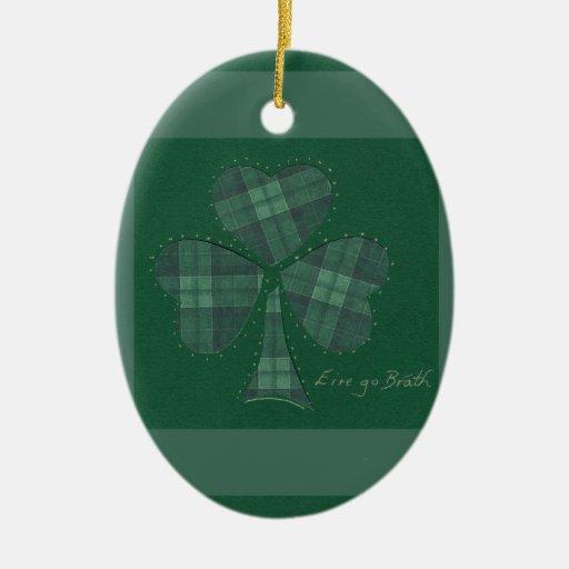 Saint Patrick's Day collage series # 12 Ornament
