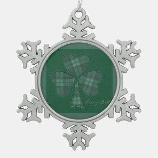 Saint Patrick's Day collage series # 12 Pewter Snowflake Decoration