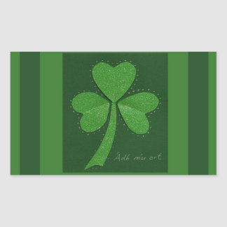 Saint Patrick's Day collage series # 13 Rectangular Sticker