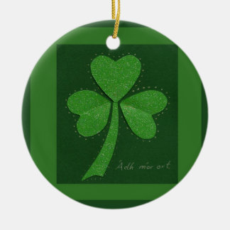 Saint Patrick's Day collage series # 13 Round Ceramic Decoration