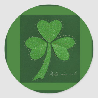 Saint Patrick's Day collage series # 13 Round Sticker