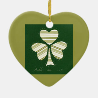 Saint Patrick's day collage series # 14 Ceramic Heart Decoration