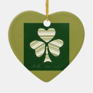 Saint Patrick's day collage series # 14 Ceramic Heart Decoration