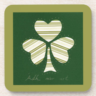 Saint Patrick's day collage series # 14 Beverage Coaster