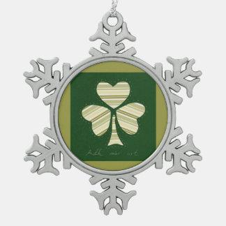 Saint Patrick's day collage series # 14 Pewter Snowflake Decoration