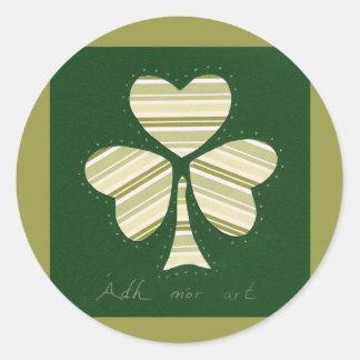 Saint Patrick's day collage series # 14 Round Sticker