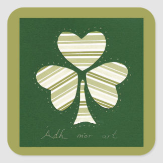 Saint Patrick's day collage series # 14 Square Sticker