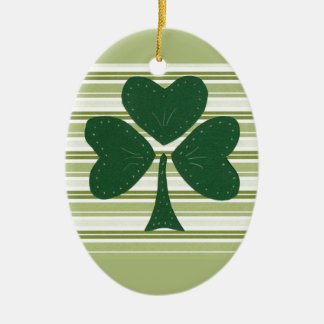 Saint Patrick's day collage series # 15 Christmas Tree Ornament