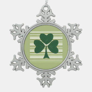 Saint Patrick's day collage series # 15 Pewter Snowflake Decoration