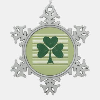 Saint Patrick's day collage series # 15 Pewter Snowflake Decoration