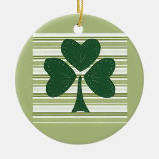 Saint Patrick's day collage series # 15 Round Ceramic Decoration