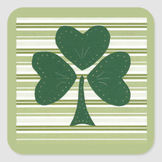 Saint Patrick's day collage series # 15 Square Sticker