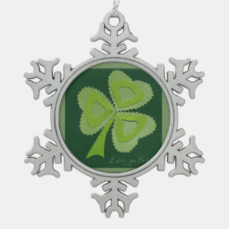 Saint Patrick's day collage series # 16 Pewter Snowflake Decoration