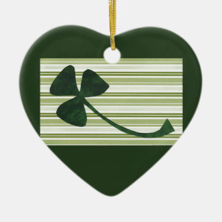 Saint Patrick's Day collage series # 18 Ceramic Heart Decoration