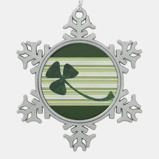 Saint Patrick's Day collage series # 18 Pewter Snowflake Decoration