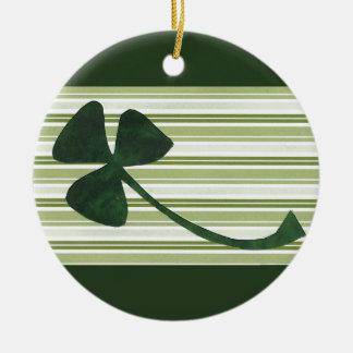 Saint Patrick's Day collage series # 18 Round Ceramic Decoration