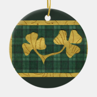 Saint Patrick's Day collage series # 19 Christmas Tree Ornaments