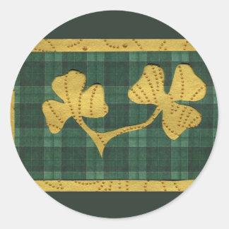 Saint Patrick's Day collage series # 19 Round Sticker