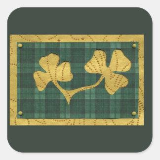 Saint Patrick's Day collage series # 19 Square Sticker