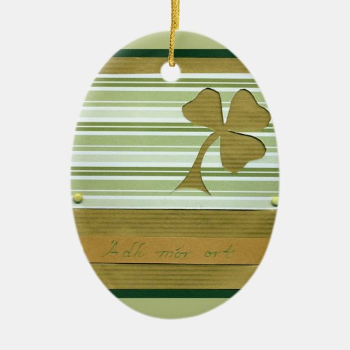 Saint Patrick's Day collage series # 1 Christmas Ornament