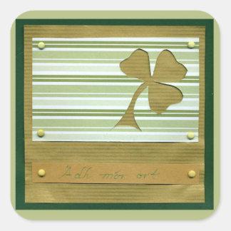 Saint Patrick's Day collage series # 1 Square Sticker