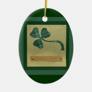 Saint Patrick's Day collage series #3 Ceramic Oval Decoration