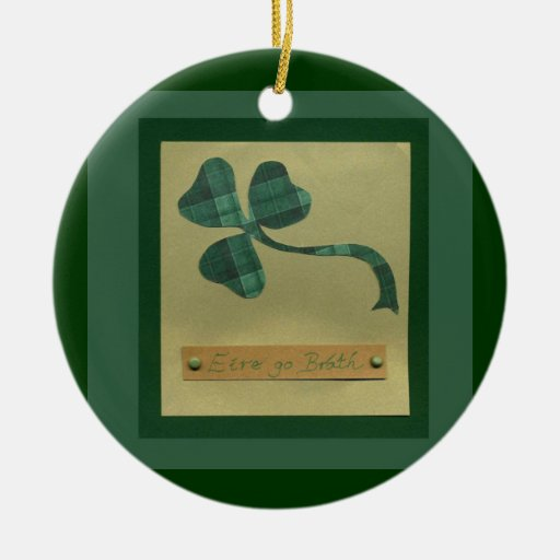 Saint Patrick's Day collage series #3 Christmas Tree Ornament