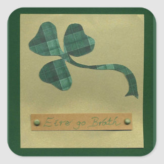 Saint Patrick's Day collage series #3 Square Sticker