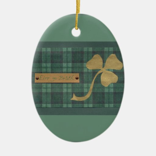 Saint Patrick's day collage series # 4 Christmas Ornament