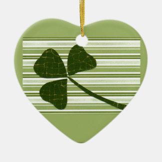 Saint Patrick's Day collage series # 5 Ceramic Heart Decoration