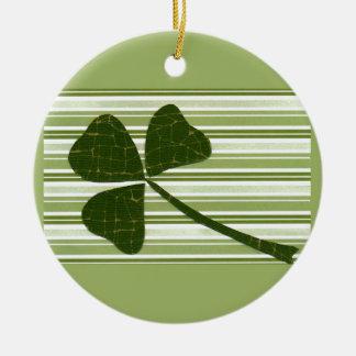 Saint Patrick's Day collage series # 5 Round Ceramic Decoration