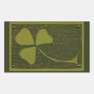 Saint Patrick's Day collage series # 6 Rectangular Sticker