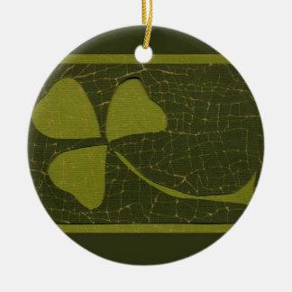 Saint Patrick's Day collage series # 6 Round Ceramic Decoration
