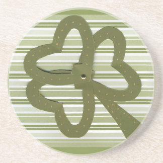 Saint Patrick's Day collage series # 7 Beverage Coaster