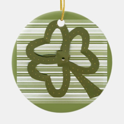 Saint Patrick's Day collage series # 7 Christmas Ornament