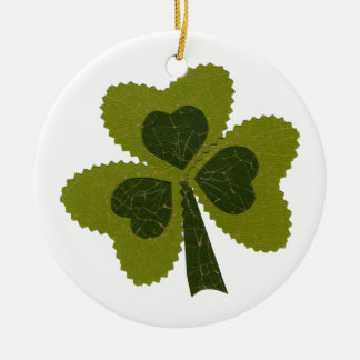 Saint Patrick's Day collage series # 8 Ornament