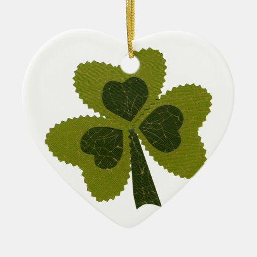 Saint Patrick's Day collage series # 8 Christmas Ornament