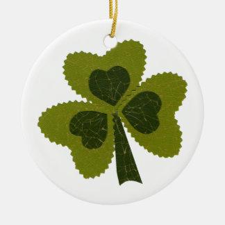 Saint Patrick's Day collage series # 8 Round Ceramic Decoration