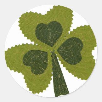 Saint Patrick's Day collage series # 8 Round Sticker