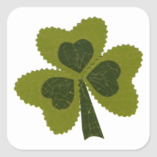 Saint Patrick's Day collage series # 8 Square Sticker